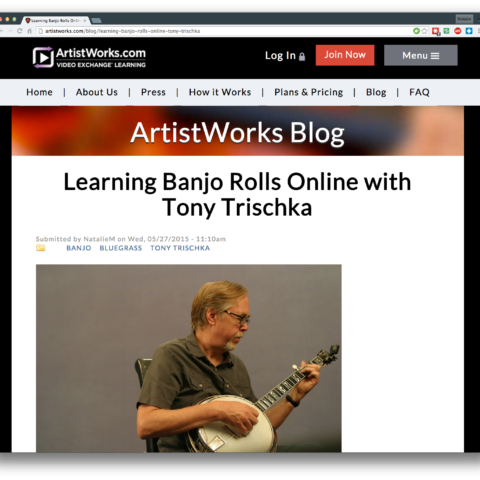 Learning Banjo Rolls with Tony Trischka