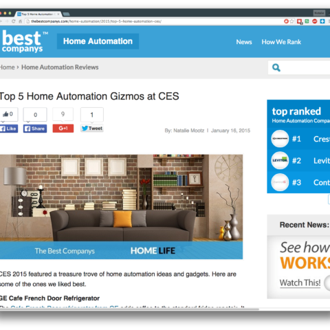 Top 5 Home Automation Gizmos at CES