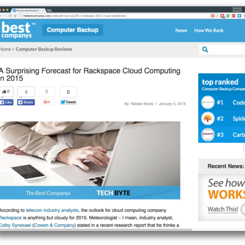 A Surprising Forecast for Rackspace Cloud Computing in 2015