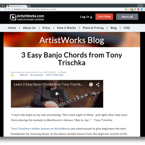 3 Easy Banjo Chords from Tony Trischka