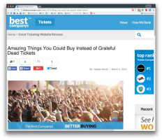 Amazing Things You Could Buy Instead of Grateful Dead Tickets