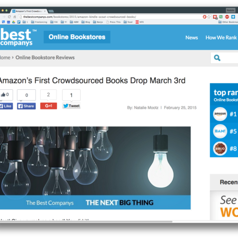 Amazon's First Crowdsourced Books Drop March 3rd
