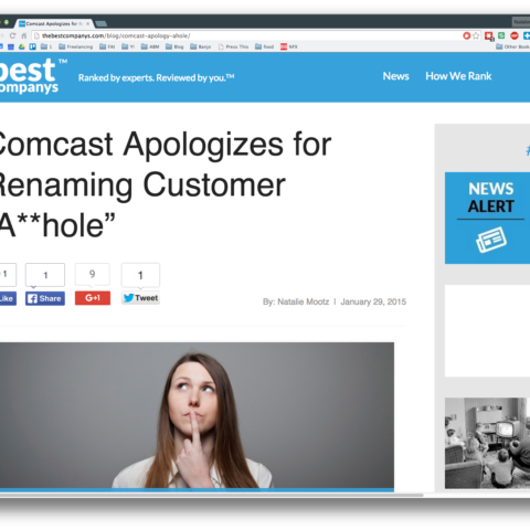 "Comcast Apologizes for Renaming Customer ""A**hole"""