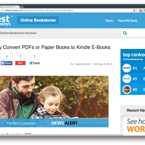 Easily Convert PDFs or Paper Books to Kindle E-Books