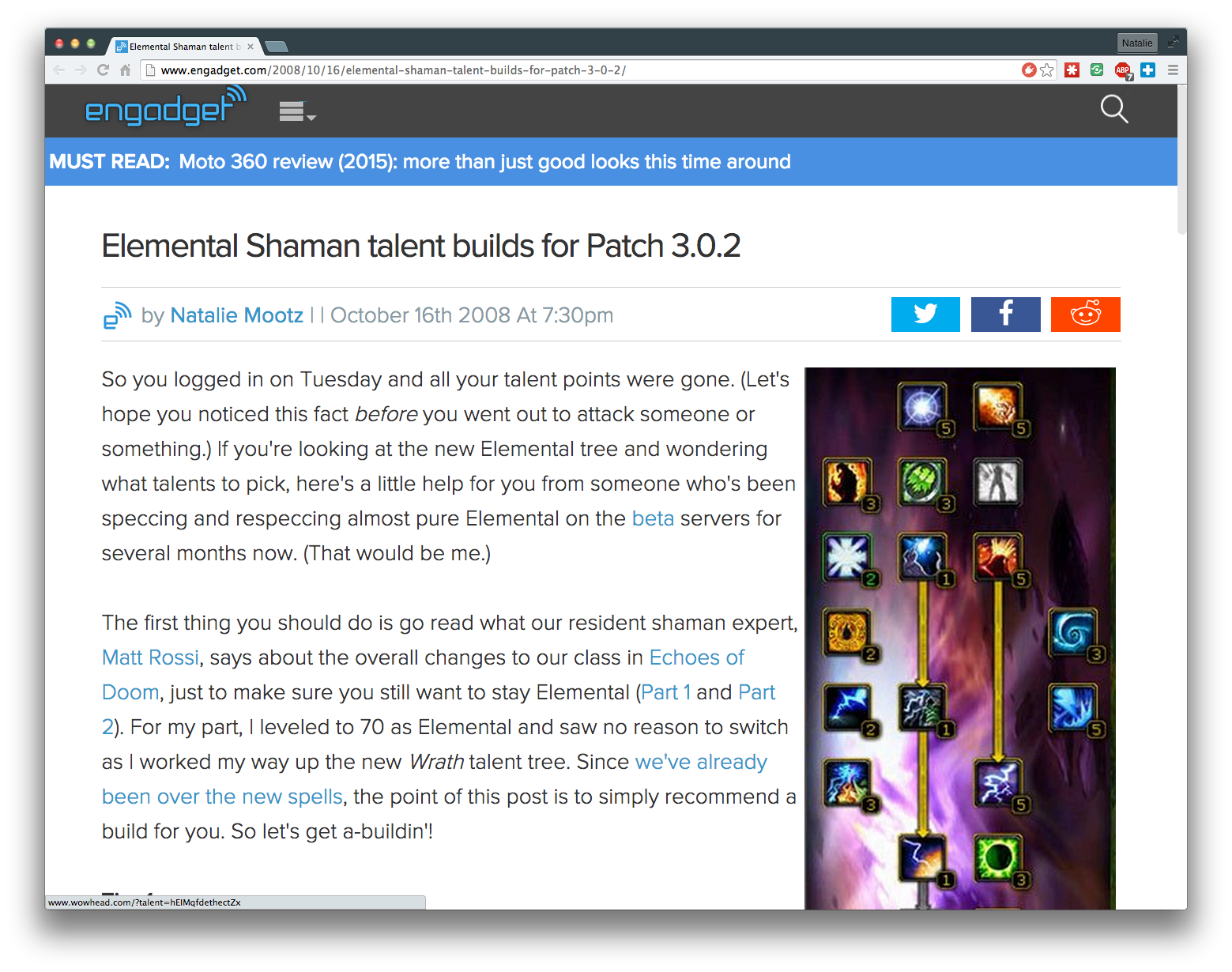 Elemental Shaman talent builds for Patch 3.0.2