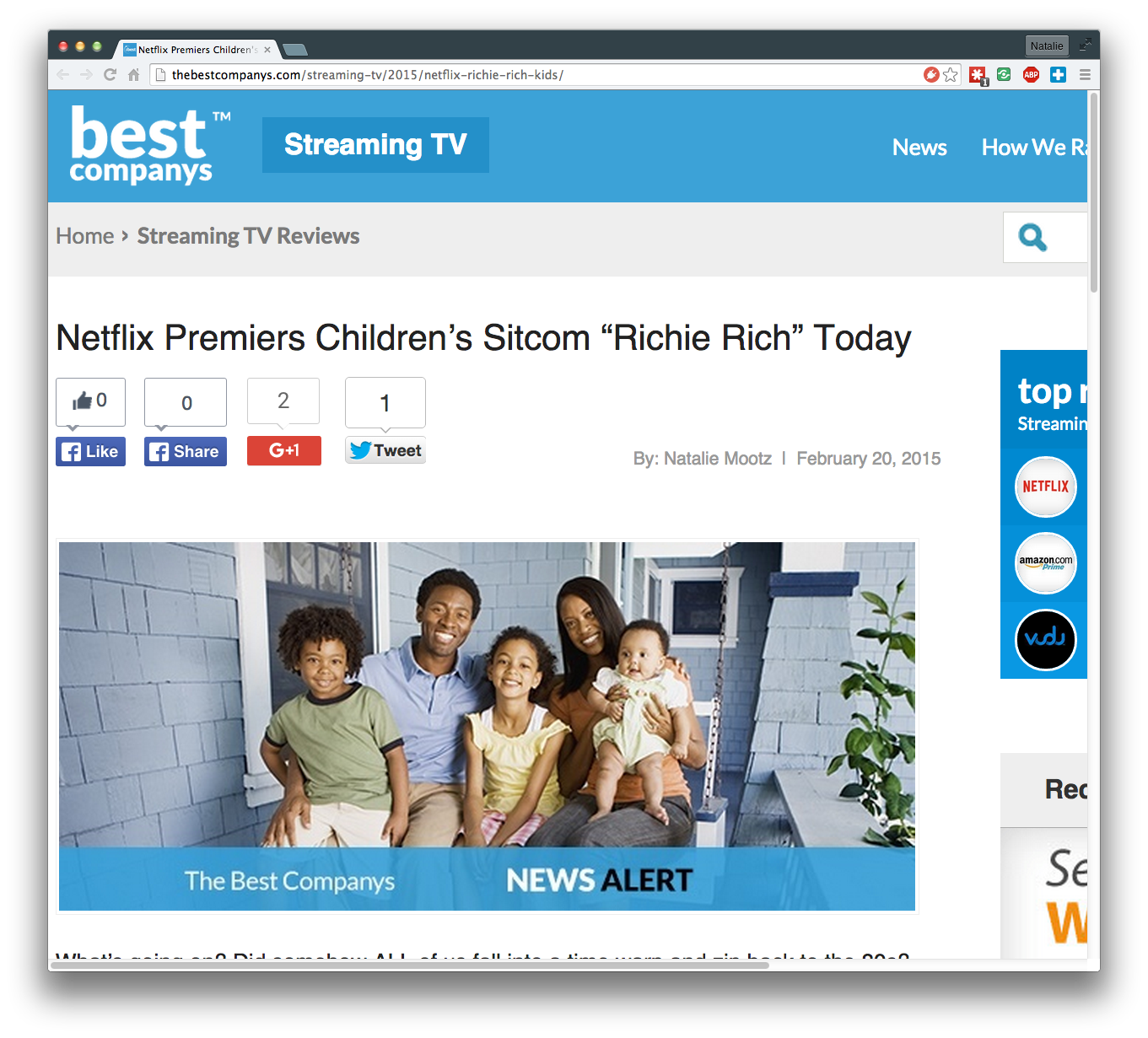Netflix Premiers Children's Sitcom Richie Rich Today
