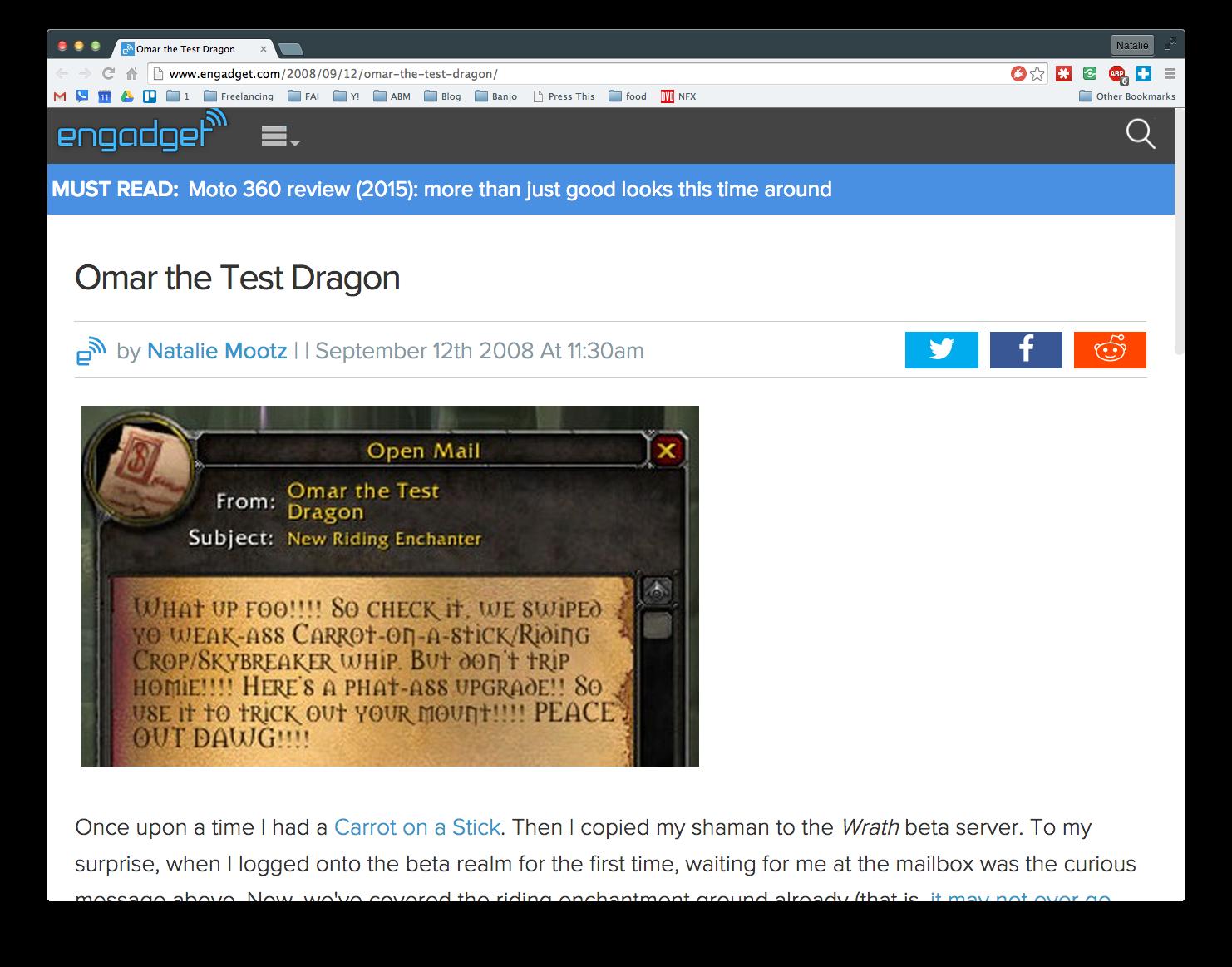 Omar the Test Dragon