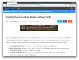 Engadget WoW Blizzcon