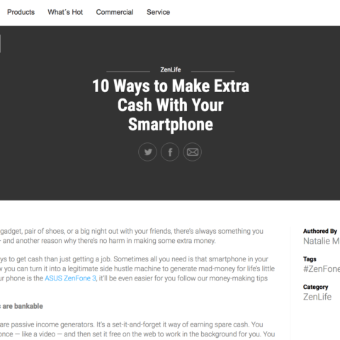 10 Ways to Make Extra Cash With Your Smartphone