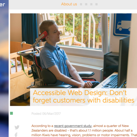Accessible Web Design: Don't forget customers with disabilities