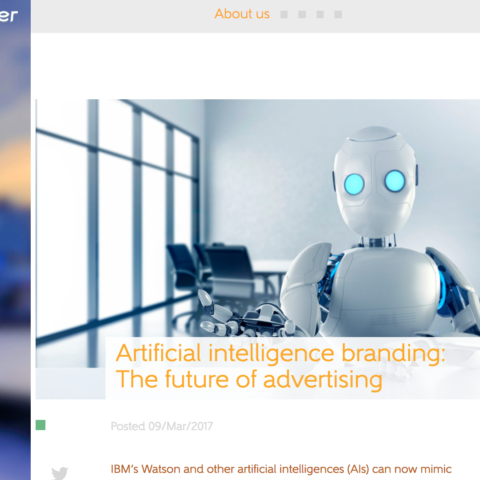 Artificial intelligence branding