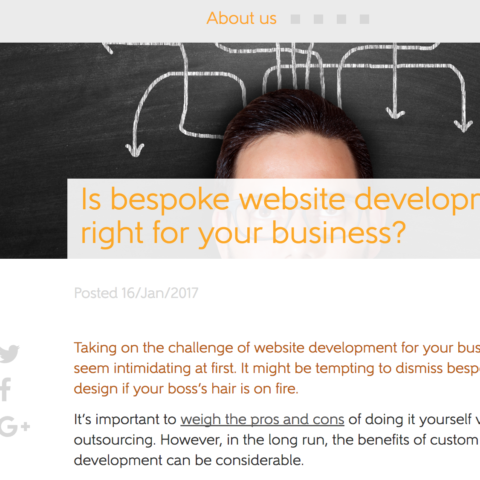 Is bespoke website development right for your business?