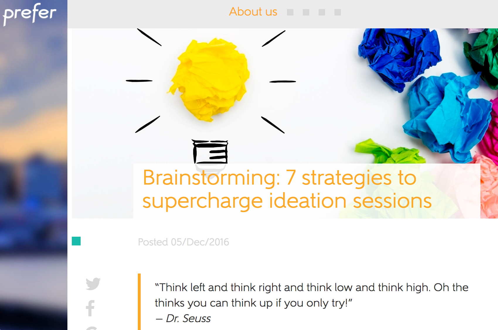 prefer brainstorming