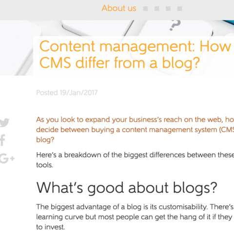 Content management: How does CMS differ from a blog?