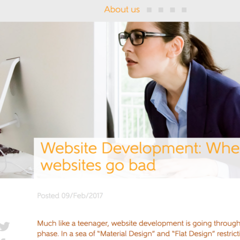 Website Development: When websites go bad