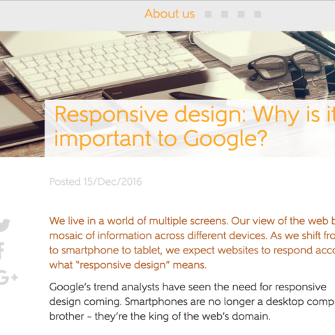 Responsive design: Why is it so important to Google?